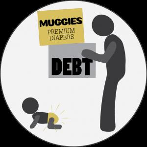 Muggies Diapers - Debt